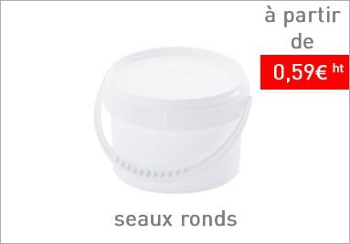 Seaux en plastique par lot de 20 -5% de remise , puht à partir de 0.59€