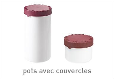 pots avec couvercles