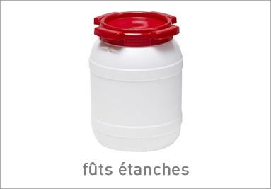 Fûts étanches en plastique