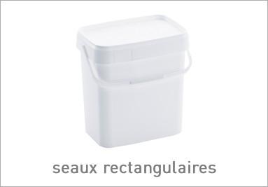 seaux plastiques rectangulaires
